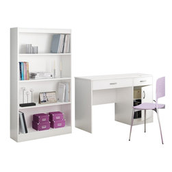 South Shore - South Shore Axess 2 Piece Office Set in White - South Shore - Office Sets - 72500707250767PKG -