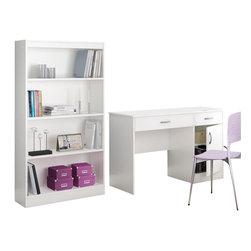 South Shore - South Shore Axess 2 Piece Office Set in White - South Shore - Office Sets - 72500707250767PKG -
