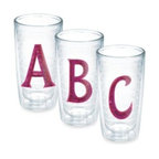 Tervis - Tervis Sequin Initial 10-Ounce Tumbler in Pink - These sparkling, personalized Tervis tumblers make a wonderful gift. Insulated double wall construction keeps hot drinks hot and cold drinks cold while reducing condensation and helping to prevent water rings on furniture.