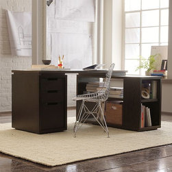 Modular Office - Build your office, one piece at a time. Each mix-and-match component can stand on its own or combine with others to form the perfect workstation.