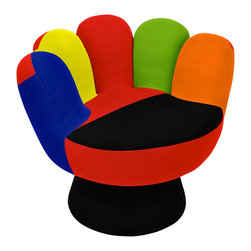 "Lumisource - Mitt Chair, Multi - 32"" Diam. x 27.5"" H"