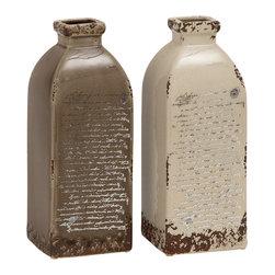 Victoria Smart Ceramic Vase, Set of 2 - Description: