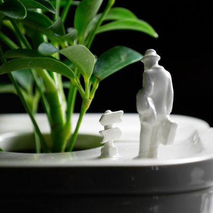 Eclectic Indoor Pots And Planters by Charles & Marie