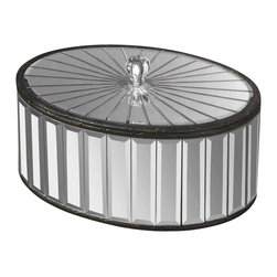 Uttermost - Grace Feyock Alanna Box - Designer: Grace Feyock. Removable lid. Made of metal. 12 in. W x 8 in. D x 7 in. H. Constructed of numerous beveled mirrors with polished edges for a smooth finish.
