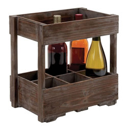 Benzara - Designed Wood Wine Rack for Classic and Unique Wines - Chic and stylish, this Uniquely Designed Wood Wine Rack for Classic and Unique Wines is a wood wine rack to store 6 bottles at a time, this chic piece of furniture can be placed in the mini bar in your house. Stack them and store them with this versatile stackable storage rack. The wooden durable rack is designed with perfection, and will make your home making for a perfect evening with your loved ones and friends. This utility rack will do justice to your home bar, and get you compliments from your guests. Stylish and easy to maintain, this one is worth investing in. This designer wooden rack can also be gifted to someone who likes to collect classic and unique wines..