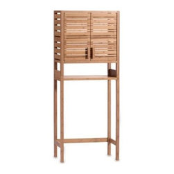New Union Home Products Co./li&fung - Bamboo Spacesaver with Two Doors - Bamboo is an ecologically friendly, renewable resource that adds warmth and style to your bathroom.
