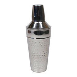 Cocktail Shaker - Cocktail Shaker Stainless Steel with a Shiny Mirrored Hammered finish