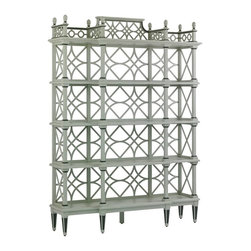 Stanley Furniture - Preserve-Botany Etagere - Chinese Chippendale styling gives a Botany Etagere unmatched grace and presence.