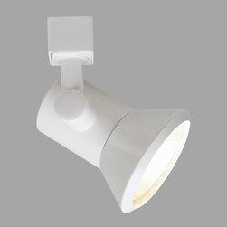 Nora Lighting - Nora NTH-124 PAR20 Cone Line Voltage Track Fixture - Streamlined conical PAR halogen incandescent track lighting fixture.