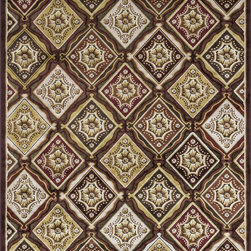 "Loloi Rugs - Loloi Rugs Halton Collection - Dark Brown / Rust, 3'-10"" x 5'-7"" - The colors are vivid and the transitional designs are appealing, but what really stands out in Halton is the details. Take a closer look (or zoom in) and you'll notice Halton was expertly designed with subtle shadings and intricate patterns to give it the appearance of a hand-crafted rug. Power loomed in Turkey, the viscose surface is raised against a chenille base, giving Halton an element of dimension and texture that adds character and enhances perceived value. Also, the viscose surface has an irresistible shimmer, which further adds to its sophisticated appearance."