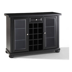 "Crosley - Alexandria Sliding Top Bar Cabinet - Dimensions: 20"" L x 64"" W x 36"" H"