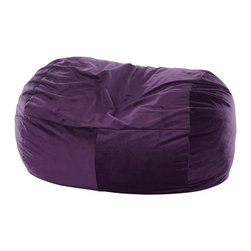 OneUp Innovations, Inc - Jaxx Club Lounger (6 Ft) Foam Beanbag, Velvish Aubergine - Kick back & relax in the Jaxx Club Lounger. This modern, foam filled beanbag adds casual, comfortable seating to your decor. The multifunctional shape can be used as a chair, a lounger or a love seat replacement. The shredded high-density foam filling provides cushiony support in any position. The Jaxx Club Lounger molds to your every move, whether you are watching TV, browsing the internet or reading your favorite book. Seats one or two adults comfortably; three gets cozy. Available in several designer fabrics and colors to blend in both modern and casual settings. Great for apartments, lofts and dorms! Approximately 6 ft x 3 ft x 3ft in size. Weighs around 70 pounds. Made with 100% recycled/shredded furniture grade urethane foam filling. Covers zip-off for machine washing. Shipped compressed under vacuum to save on freight. Some assembly required. Please follow included instructions or view the assembly video online. All of the fabrics used for Jaxx products are designed to hold up to normal wear and tear for furniture. Microsuede is a durable, entry level fabric. It is lightweight, has virtually no fiber depth, and feels smooth to the touch. Microsuede is machine washable (tumble dry low). Velvish is our mid-range fabric. The Velvish is a denser, higher fiber compared to Microsuede. This results in a noticably softer feel. Pebble is our premium fabric featuring a more dense and slightly higher fiber than Microsuede, but not as high as Velvish. What sets the Pebble fabric apart from the others is the miniature cobblestone patterned texture cut into the fabric which adds visual flare to the fabric. All three fabrics are machin washable on cold setting and can be tumbled dried on low heat.