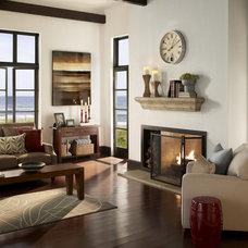 Eclectic Indoor Fireplaces by Eldorado Stone