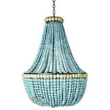 Chandeliers Turquoise Empire Chandelier