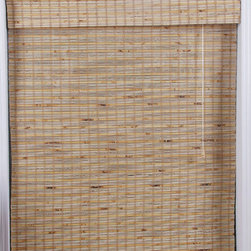 Safe-er-Grip - Mandalin Bamboo Roman Window Shade (25 in. x 98 in.) - Stunning natural bamboo construction lends a warm,appealing touch to your home decor. This bamboo is carefully woven to filter light in.