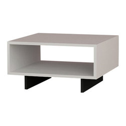 Matte / Decortie - HOLA COFFEE TABLE, White - Black - The Matte Hola Coffee Stand would make a fabulous addition to a contemporary interior. Featuring an angular compartment and contrasting legs, it would make a stunning focal point in the living room.