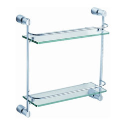 Fresca - Fresca Magnifico 2 Tier Bathroom Glass Shelf - All our bathroom accessories are imported and are selected for their modern, cutting edge designs. All accessories are made with brass with a quadruple chrome finish. All our accessories have been chosen to complement our other line of products including our vanities, steam showers, whirlpools, and toilets.