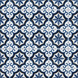 Navy Blue Medallion Cement Tile - BY AMETHYST ARTISAN