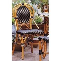 Palecek Patio Bistro Chair - This cafe chair has a sophisticated style with profound details.