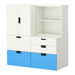 Ebba Strandmark - Stuva Storage Combination With Doors/Drawers, Blue/White - The Stuva system from Ikea allows you to custom-build a storage unit to fit what you need.