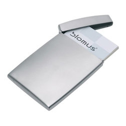 Blomus - GENTS Flip Business Card Case by Blomus - The Blomus GENTS Flip Business Card Case protects business cards from damage while adding a smart, contemporary note to business networking events. The GENTS Flip Business Card Case features stainless steel.Blomus, headquartered in Germany, specializes in the design and manufacture of beautifully engineered home and office accessories in modern stainless steel styles.The Blomus GENTS Flip Business Card Case is available with the following:Details:Made of stainless steelHinged lidShipping:This item usually ships within 2-3 business days.