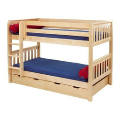 Hot Shot Twin over Twin Slat Bunk Bed