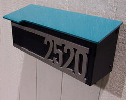 Custom House Number Mailbox No. 1707 - Custom House Number Mailbox No. 1707 in Powder Coated Aluminum