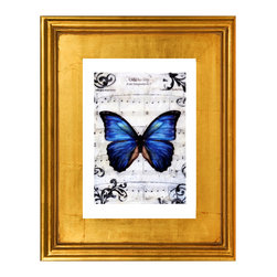 Flutterby Kiss 8, Fine Art Print - A beautiful limited edition fine art print comes signed, matted, and framed. Direct from the artist this piece features a stunning high quality hand made gold wood frame. The high quality print is produced by the artist in very limited numbers on professional archival paper. Less then 250 prints are made. Guaranteed to last, This is a piece you will love to own. Simply stunning, the photos do not do it justice. Total size of the frame is 12.5 x 10.5 x 1.5 inch deep. This is a great way to start or add to an existing collection!