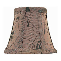 Lite Source - Round Jacquard Chandelier Shade in Brown (5 in. Dia.) - Size: 5 in. Dia.. 5 in. Shade:. Top: 3 in. Dia.. Bottom: 5 in. Dia.. Height: 4.5 in.