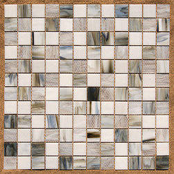 Stained Glass Mosaic Tile - I've used this tile both as a square mosaic and as a random plank linear mosaic. I love the stained glass mix - it's a little different than some of the other glass tiles on the market and can work in a traditional kitchen as well as modern.