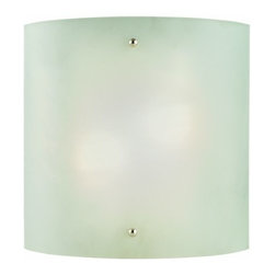 DHI-Corp - Weston 2-Light Half-Cylinder Wall Sconce, Satin Nickel - The Design House 512905 Weston 2-Light Wall Sconce has a half-cylinder shape and will provide a touch of style to any room. Constructed of formed steel with a satin nickel finish and acrylic glass, this 2-light wall mount adds a modern accent to your home. This sconce's petite design mounts seamlessly to the wall without a chain or visible wires. Measuring 10-inches (H) by 10-inches (W), this 1.2-pound sconce can be mounted facing up or down depending on preference and location. This fixture uses (2) GU24 base compact fluorescent bulbs (Included). This wall mount is UL listed, cUL listed and ADA compliant. The Design House 512905 Weston 2-Light Wall Sconce comes with a 10-year limited warranty to the original purchaser to be free from defect in materials and workmanship. Design House offers products in multiple home decor Categories including lighting, ceiling fans, hardware and plumbing products. With years of hands-on experience, Design House understands every aspect of the home decor industry, and devotes itself to providing quality products across the home decor spectrum. Providing value to their customers, Design House uses industry leading merchandising solutions and innovative programs. Design House is committed to providing high quality products for your home improvement projects.