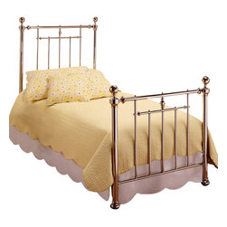 Hillsdale Furniture - Holland Duo Panel Bed in Nickel Finish - Includes duo panel and rails. Mattress not included. 4 Leg twin/full Satin Beige frame. Headboard: 40.75 in. W x 56.75 in. H. Footboard: 40.75 in. W x 37.75 in. H. Frame: 76 in. L x 54 in. WThe Shiny Nickel finish and cannonball finials are the hallmarks of the Holland bed. It makes a wonder addition to any Master bedroom or guest room.