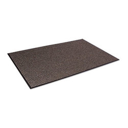 Crown - Crown Oxford Wiper Mat, 36 x 60, Black/Brown - Beautifully designed a combination of performance and appearance like no other wiper! An elegant solution for a good first impression. High performance mat retains water and minimizes the risk of slips and falls. Heavyweight loop pile mat that exceeds performance. Attractive pattern hides dirt and keeps your entrances clean. Thermoflex vinyl backing offers superior floor protection. Use in indoor medium to heavy traffic areas.