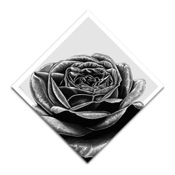 """Maxwell Dickson - Maxwell Dickson """"Black Rose"""" Hand-Stretched Modern Canvas Art Print - We use museum grade archival canvas and ink that is resistant to fading and scratches. All artwork is designed and manufactured at our studio in Downtown, Los Angeles and comes stretched on 1.5 inch stretcher bars. Archival quality canvas print will last over 150 years without fading. Canvas reproduction comes in different sizes. Gallery-wrapped style: the entire print is wrapped around 1.5 inch thick wooden frame. We use the highest quality pine wood available."""