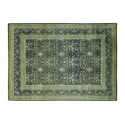 Manhattan Rugs - New Handmade William Morris 9x12 Hand Knotted Persian Wool Rug Black/Green MC114 - This is a true hand knotted oriental rug. it is not hand tufted with backing, not hooked or machine made. our entire inventory is made of hand knotted rugs. (all we do is hand knotted)