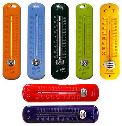 Eclectic Decorative Thermometers by Basic French