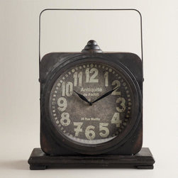 Black Addison Tabletop Clock -