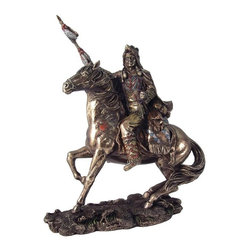 TLT - 8 Inch Cold Cast Bronze Mounted Native Indian Statue with Spear Statue - This gorgeous 8 Inch Cold Cast Bronze Mounted Native Indian Statue with Spear Statue has the finest details and highest quality you will find anywhere! 8 Inch Cold Cast Bronze Mounted Native Indian Statue with Spear Statue is truly remarkable.