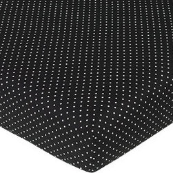 Sweet Jojo Designs - Madison Mini Polka Dot Crib & Toddler Sheet - The Madison fitted crib sheet will help complete the look of your Sweet Jojo Designs nursery. This black and white mini polka dot print cotton sheet fits all standard crib and toddler mattresses and is machine washable for easy care.