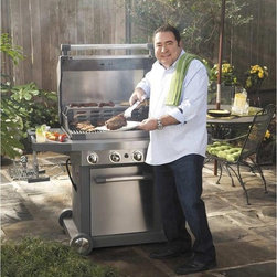 Emeril EG300 4-Burner Propane Gas Grill By Viking Culinary Group - A collaboration between celebrity chef Emeril Lagasse and the Viking Culinary Group, the EG300 delivers more heat, more power, and more cooking area than other grills in its class, resulting in a grilling performance fit for a king.