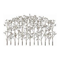 Uttermost - Iron Trees Metal Wall Art - Bring nature inside with this Billy Moon designed wall art. The handcrafted artwork features a forest of delicate iron trees. You'll love the dramatic look it adds to your wall.