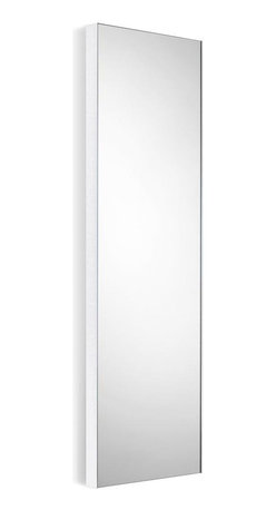 WS Bath Collections - Wall Mount Mirror with Powder Coated Aluminum - Modern/ contemporary design. 5 years silvering guaranteed. Warranty: 1 year. Made of glass mirror with powder coated aluminum. Made in Italy. 12.8 in. W x 39.4 in. H (20 lbs.). Spec SheetLinea; washbasins, washstands, and bathroom furniture, of various sizes and materials. Pureness of glass, polish of steel, and warmth of wood. Perfection of lines, art, and harmony. Made by Lineabeta of Italy to Highest Industry standards.