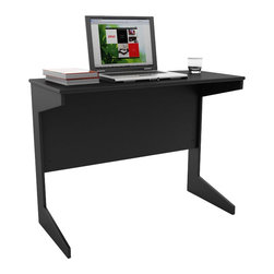 Sonax - Sonax Slim Workspace Desk in Midnight Black - Sonax - Writing Desks - D204NHL - Instantly have a place for work with this practical desk from the Hawthorn Collection. This item assembles in minutes creating a great surface for your computer, tablets or notebooks. The durable Midnight Black finish and design will fit into any decor setting with ease. Crafted with special attention to detail, it assembles in minutes, is small enough to easily move out of the way but large enough for nights of studying.