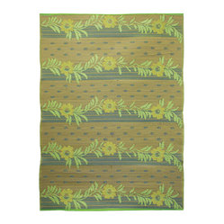 Vines Floor Mat, Gold/Lime/Beige, 6