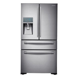 Samsung - RF24FSEDBSR 24 cu. ft. Counter Depth 4-Door Refrigerator with FlexZone Drawer  T - The Samsung Appliance RF24FSEDBSR 235 Cu Ft French door refrigerator in stainless steel stores up to 24 bags of groceries and helps keep your food fresher longer with Twin Cooling Plus technology Stylish counter-depth design allows for more workable ...