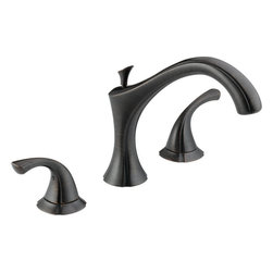 """Delta - Delta T2792-RB Venetian Bronze Addison Addison Roman Tub Faucet Trim - Product Features:  Fully covered under Delta s limited lifetime warranty All-brass faucet construction Superior finishing process - faucet finish covered under lifetime warranty Design inspired by the fragile scallops of a sea shell Graceful curves provide a delicate beauty that adds a romantic touch to the bath Double handle 1/4 turn operation ADA compliant Extra secure mounting assembly All necessary mounting hardware included  Product Specifications:  Overall Height: 8-1/8"""" (measured from mounting deck to highest point of faucet) Spout height: 5-3/4"""" (measured from mounting deck to faucet outlet) Spout reach: 8-7/8"""" (measured from center of faucet base to center of faucet outlet) 18 gallons-per-minute flow rate Installs onto decks up to 2-1/2"""" thick 2 handles included Rough-in valve not included (when adding to cart, valve will be offered)  Variations:  T2792: this model T4792: this model + hand shower  About Delta: Delta is more than just a brand of kitchen and bathroom faucets. It's a name that represents what's possible in today's plumbing technologies. Every kitchen and bathroom in every home is unique, and with a wide range of pricing and features, Delta faucets and fixtures can meet every need. Delta is driven by its quest for innovation—and this applies to its kitchen and bathroom faucets and fixtures. From Touch2O technology (which turns the faucet on and off with just a touch) and MagnaTite technology (which eliminates droopy pull-down spray heads), to H2Okinetic showers (for a warmer and more luxurious shower experience), your life is simplified through innovations. And if you&r"""