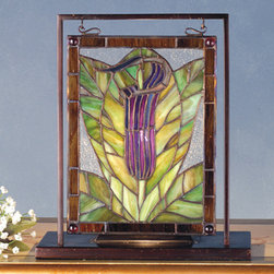 Meyda - 9.5 Inch W X 10.5 Inch H Jack-In-The-Pulpit Mini Window Windows - Color Theme: Zasdy Purple/Blue Pr Xag