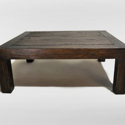 Chinese Solid Elm Wood Coffee Table - Stunning solid elm coffee table from the 1800's. Having pieces like this to use as 'anchors' for a rooms design make things very easy for me as a designer.