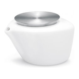Blomus - Copo Porcelain Milk Jug - Includes spoon. Capacity: 0.24 L. Made of stainless steel and Porcelain. Designed by Floz Design. 1-Year manufacturer's defect warranty. 4.35 in. L x 3.55 in. W x 2.77 in. H