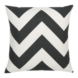 Look Here Jane, LLC - Zippy Charcoal Pillow Cover - PILLOW COVER